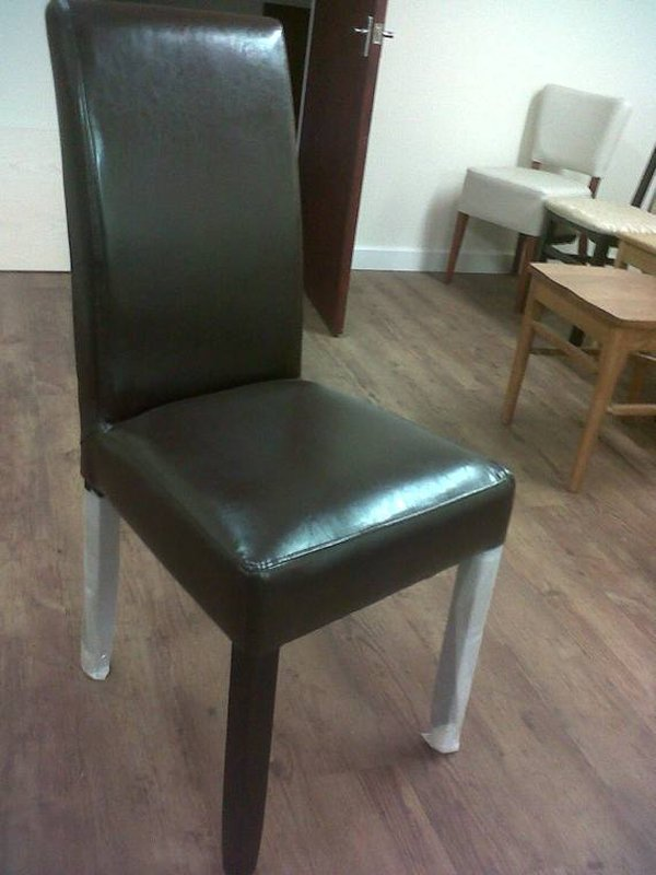 80x Lightly Used Faux Leather Chairs, And 20x Brand New Faux Leather Chairs Package - Cambridgeshire