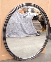 Large Silver Oval Mirror