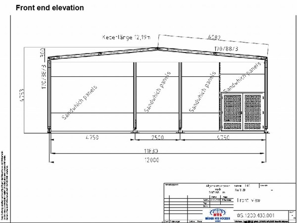 12M x 15M Roder HTS Temporary Building 7
