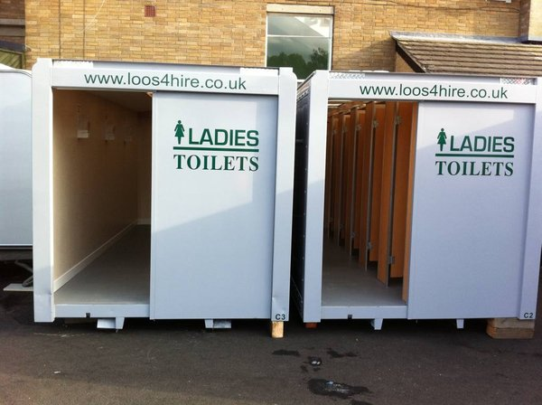 8x High Capacity Use Toilet Cabins