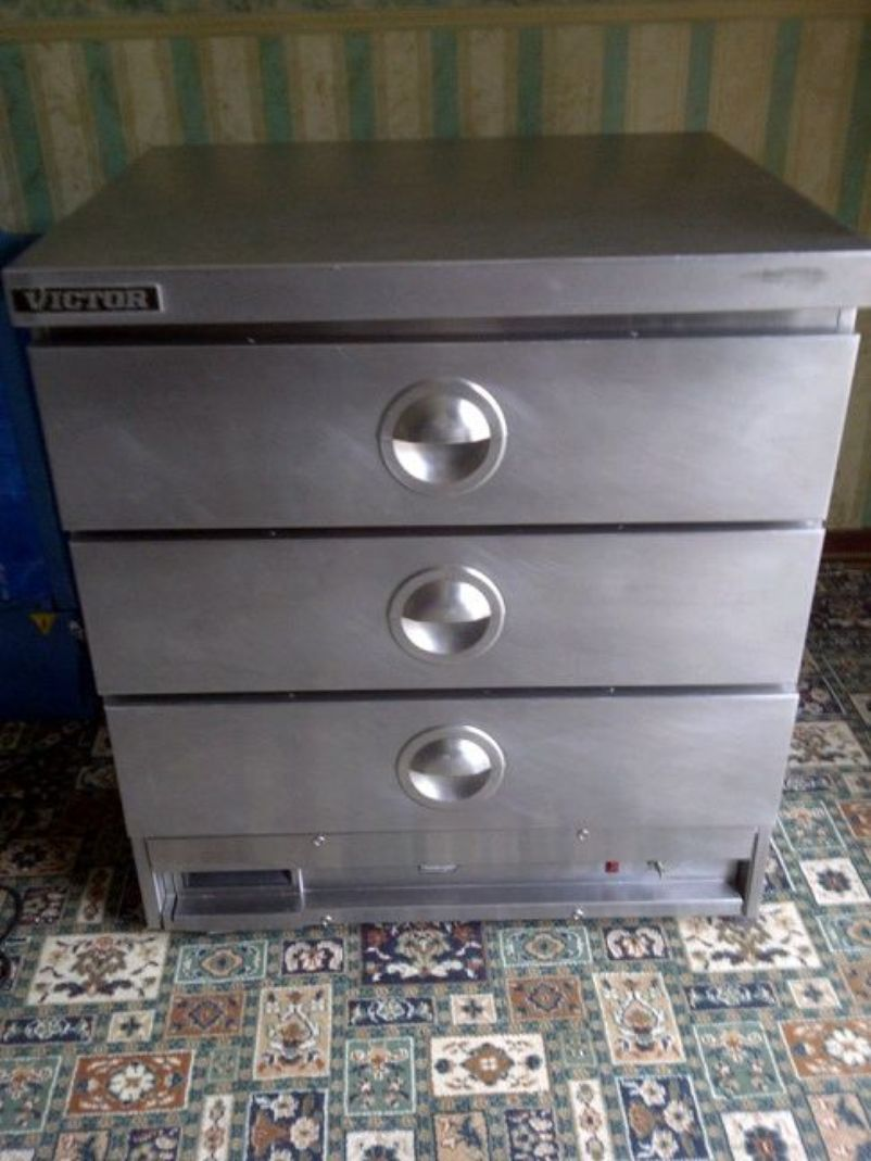 Secondhand catering equipment hot cupboards victor for Kitchen drawers for sale