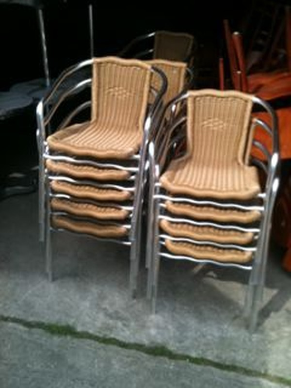 Job Lot of Mainly Wooden But Some Chrome Furniture