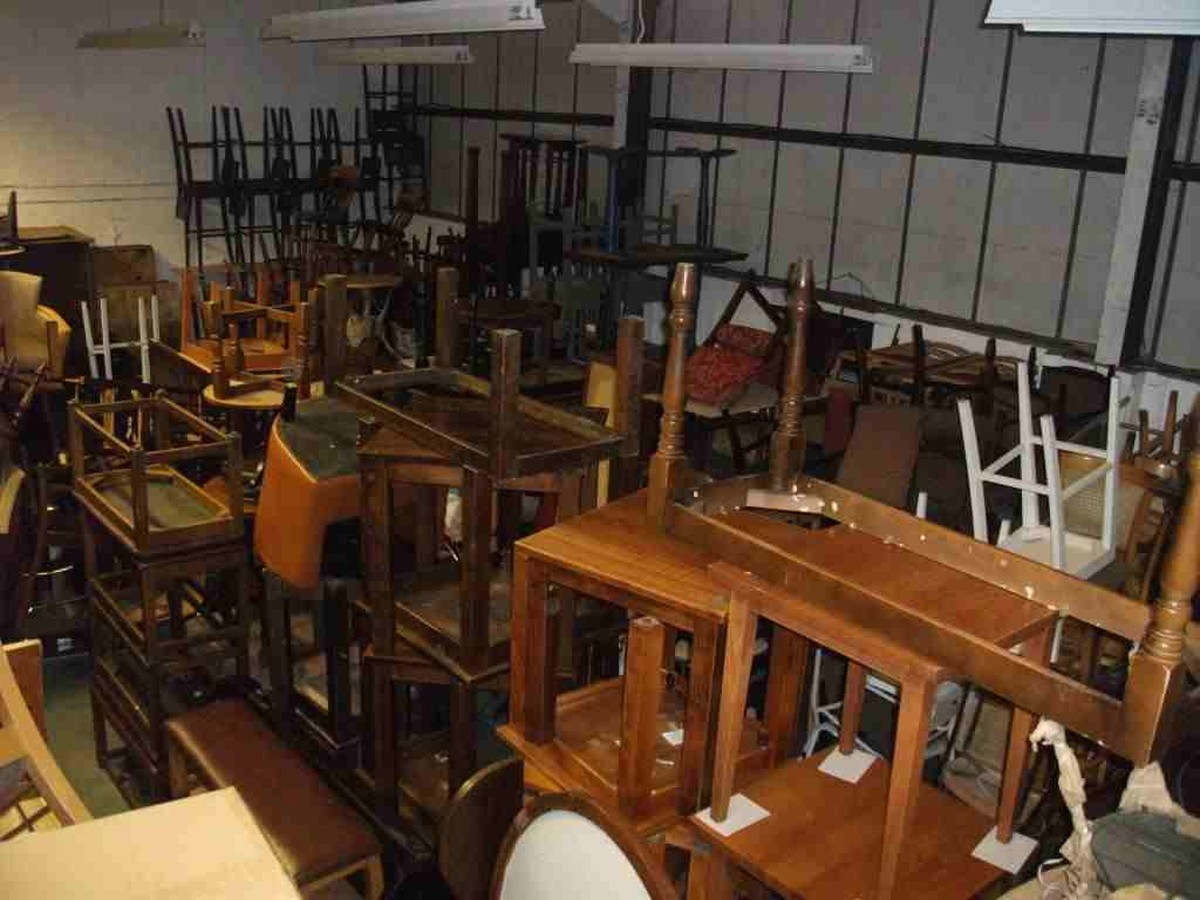 Secondhand pub equipment sofas and low tables