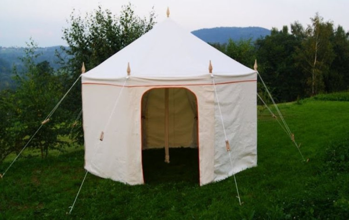 4m Octagonal Canvas Tent - Glastonbury ... & Curlew - SecondHand Marquees | Glamping and Camping Marquees or ...