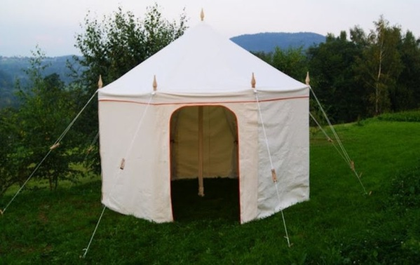 4m Octagonal Canvas Tent - Glastonbury Somerset & Curlew - SecondHand Marquees | Glamping and Camping Marquees or Tents
