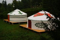 Painted 6m yurt hire