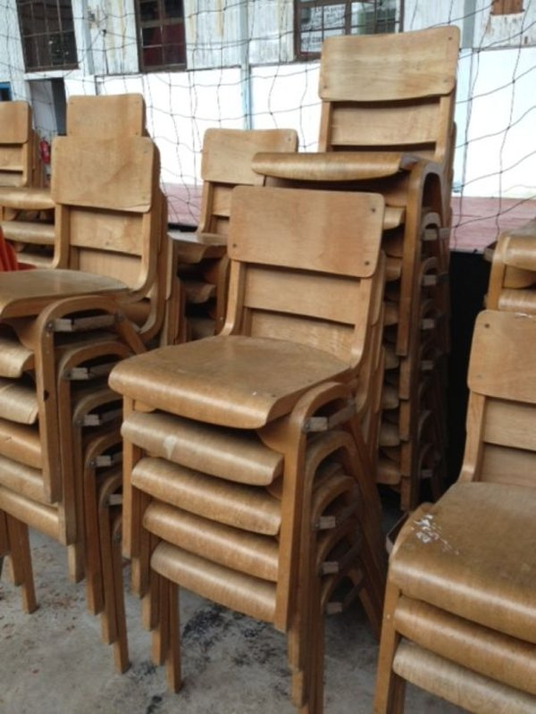 91x Wooden Chairs