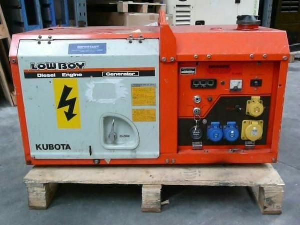 Red LOWBOY 75KVA Diesel Generator