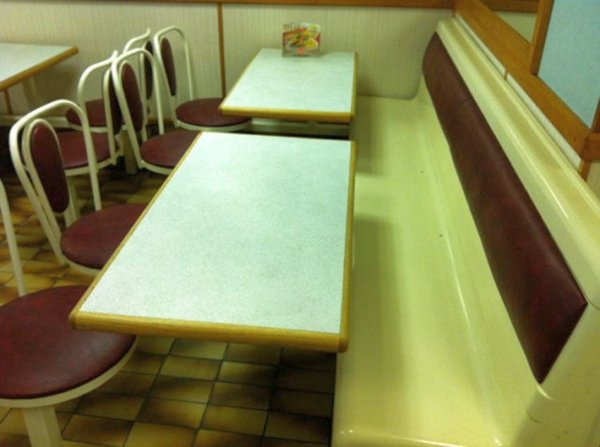 fixed cafe seating