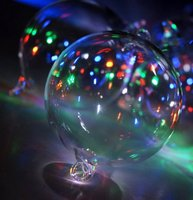 lit up Glass ball