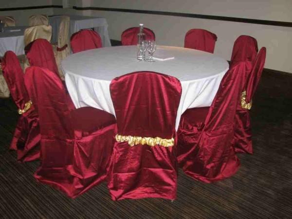 burgundy chair covers