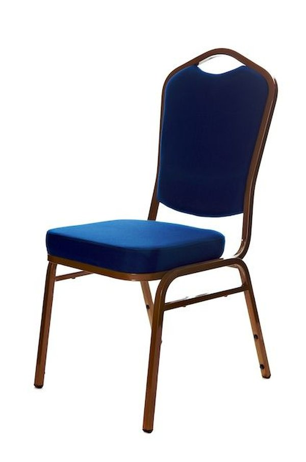 blue banqueting chair