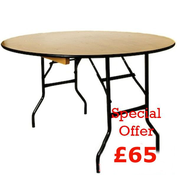 25x Brand New 5ft 6in Round Banqueting Tables (Ref FF071)   Peterborough,  Cambridgeshire