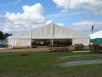 20m x 20m Roder Clearspan Marquee