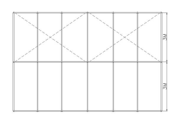 9m Clear-span marquee plan