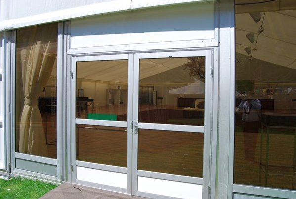 toughened glass marquee double doors