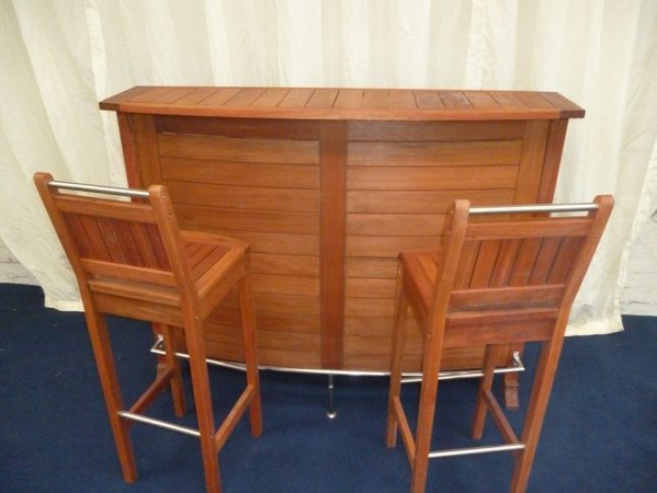 New Slow Grown Eucalyptus Bar Units c/w 2 bar stools