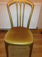 100 Chair Pad Seat Gold