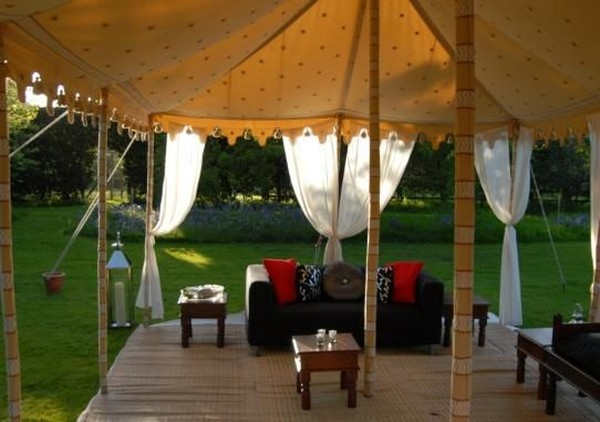 bespoke hand painted indian tent