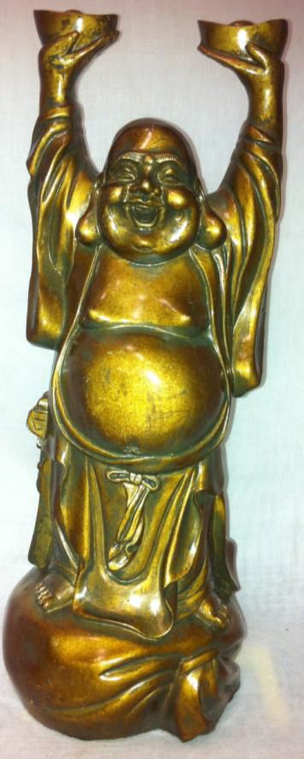 Laughing Buddhas Arms Up