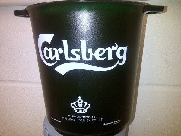 Branded carlsberg ice/beer buckets