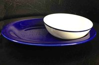 Dudson Blue Oval Plate