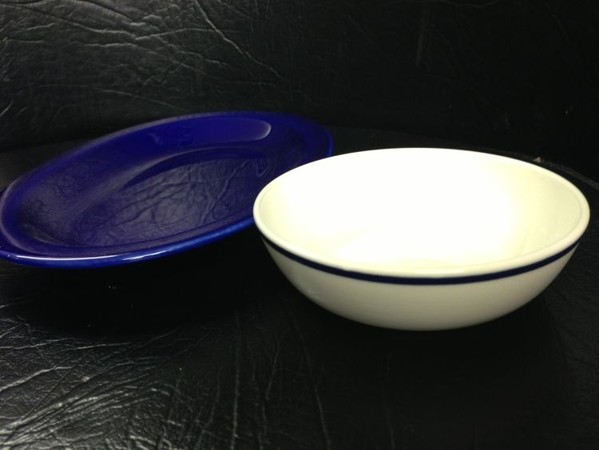 Dudson Blue Oval Plate for sale