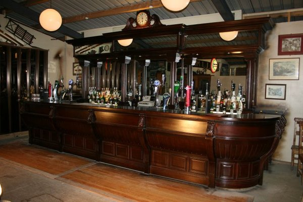 Large Solid Mahogany Unique Victorian Styled Bar Counter and Back Fitting