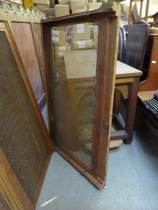 Oak and Brass Radiator Covers for sale