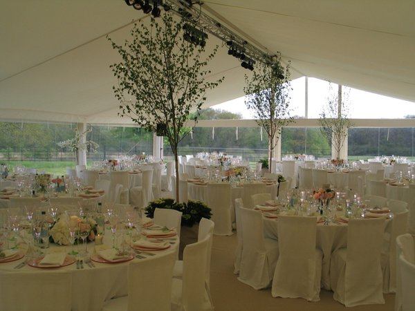 Ivory flat marquee lining