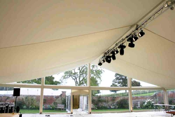 20m flat ivory lining for a marquee