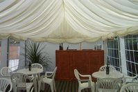 Ivory Middle Pleated Marquee Linnings