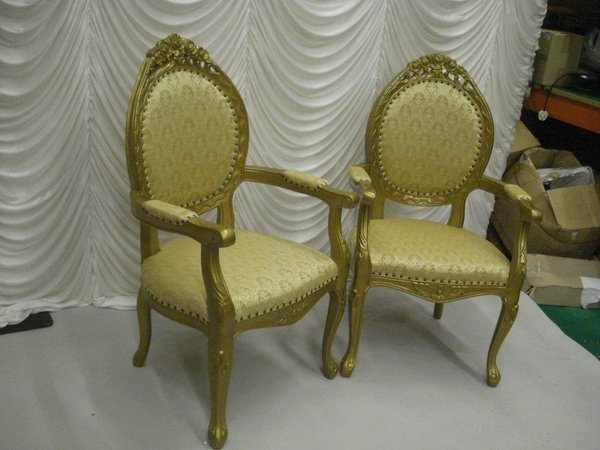 Gold Wedding Head Table Chairs