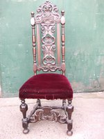 Carolean 18th Century Scallop Carved Chair Set