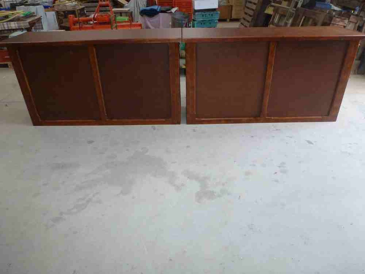 Secondhand pub equipment mobile bar units 2x varnished for Wooden bar unit
