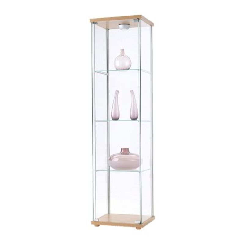 Exhibition glass display cabinets.