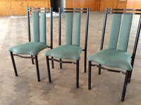 Iron framed sturdy chairs
