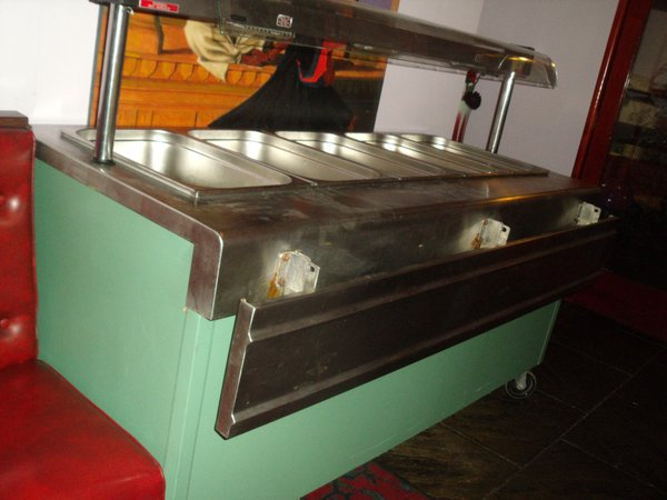 Electronic buffet display carvery unit