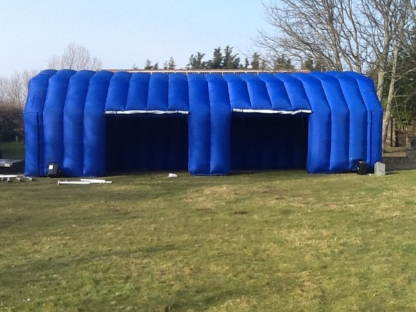 Inflatable marquee or garage