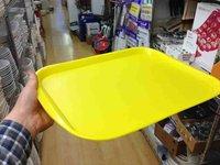 Yellow plastic serving tray