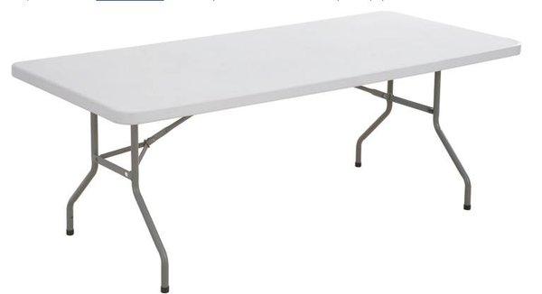 Plastic white trestle table