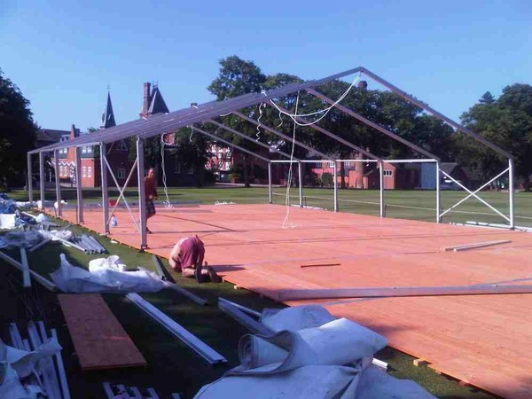 Erecting marquees essex