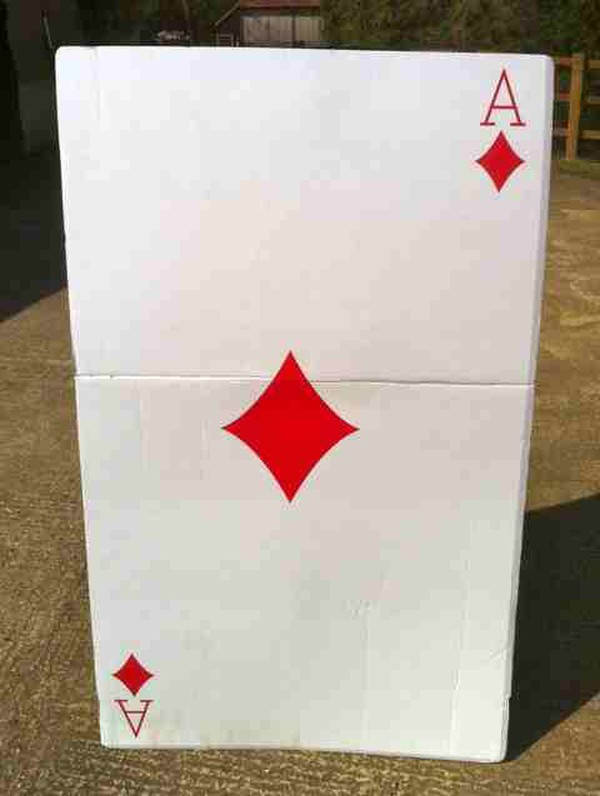 Giant playing card prop