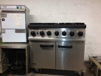 Gas oven and 6 burner
