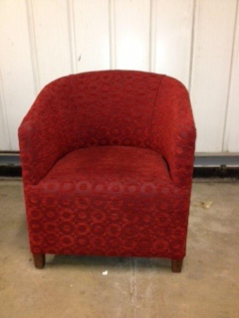 Secondhand Hotel Furniture Lounge Furniture 10x Red Tub Chairs Milton Keynes