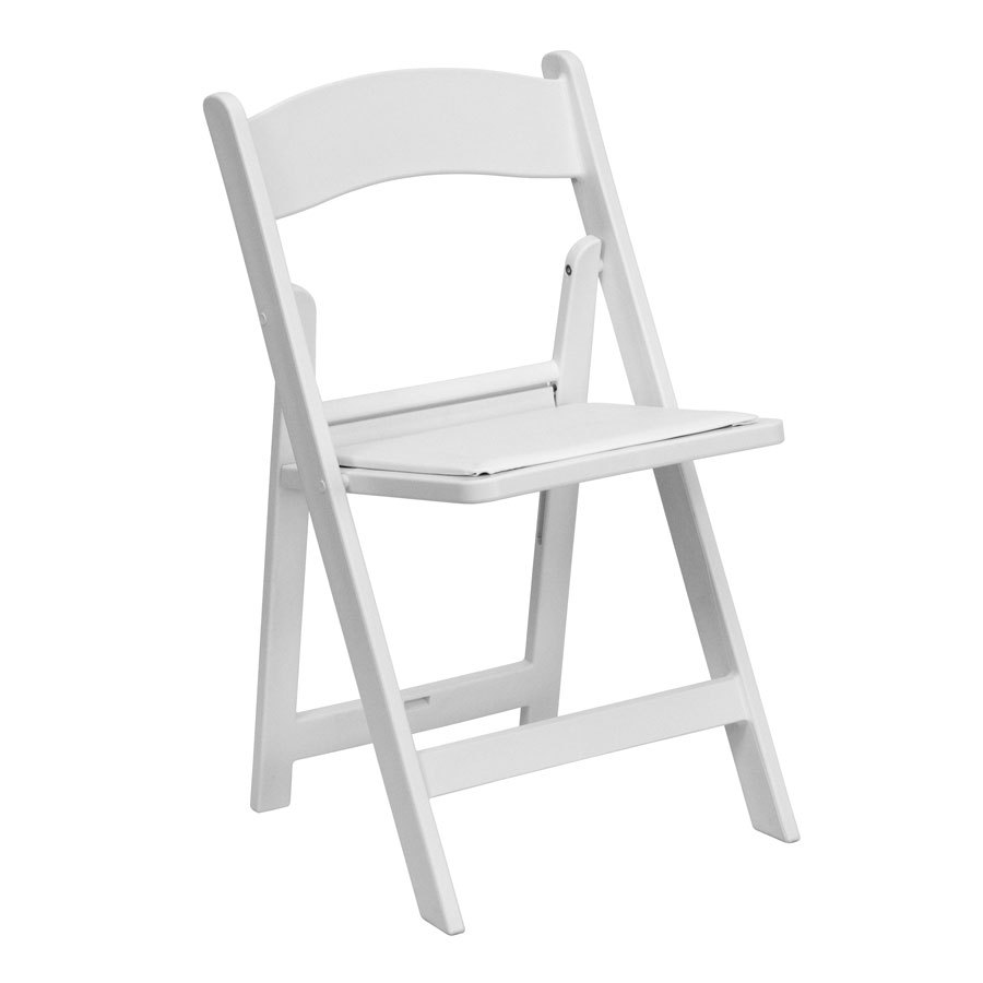 Brilliant New Resin Folding Padded Chairs In White London Oxford Evergreenethics Interior Chair Design Evergreenethicsorg