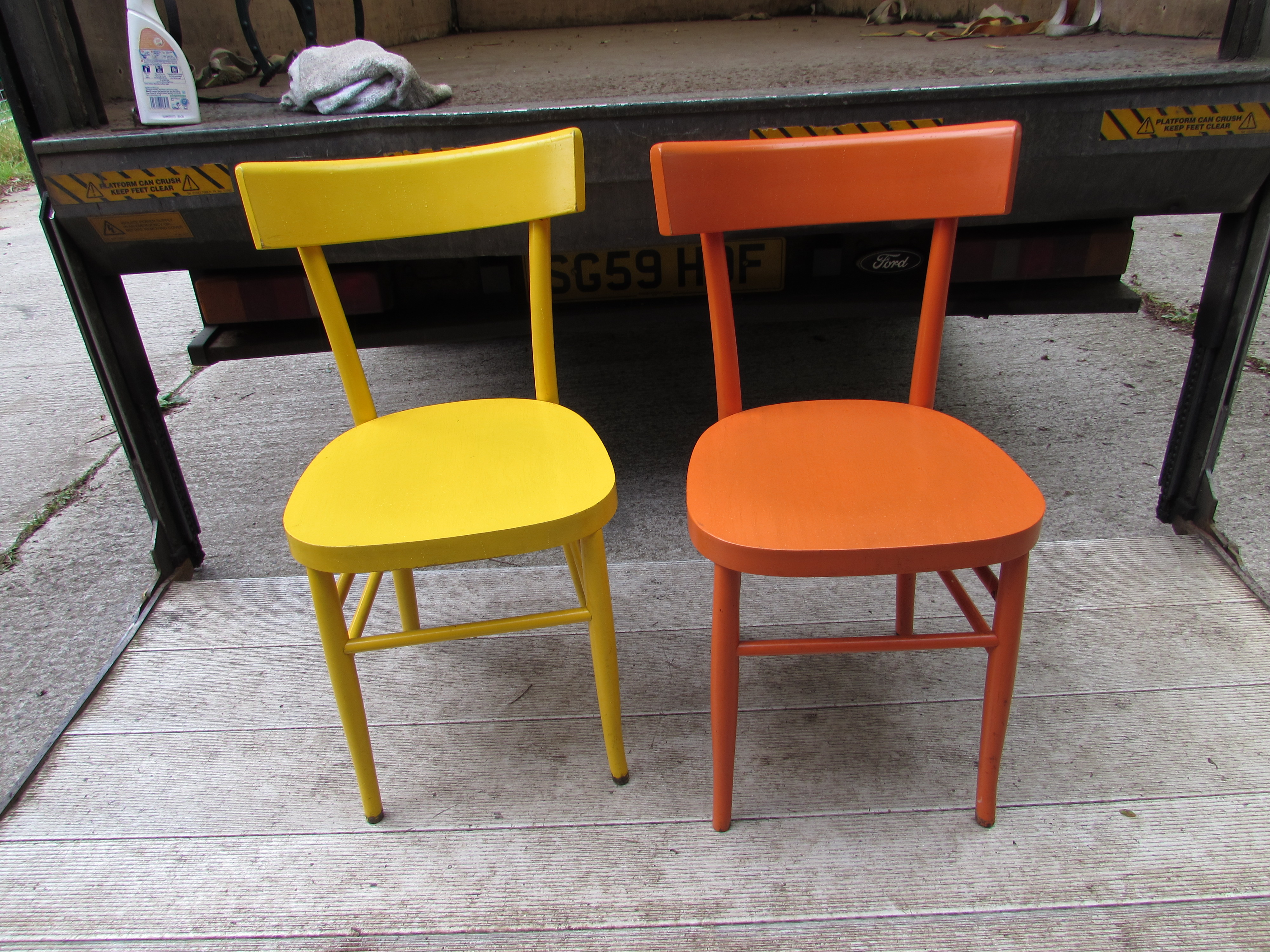 Awe Inspiring Colourful Wooden Cafe Chairs Somerset Home Remodeling Inspirations Genioncuboardxyz