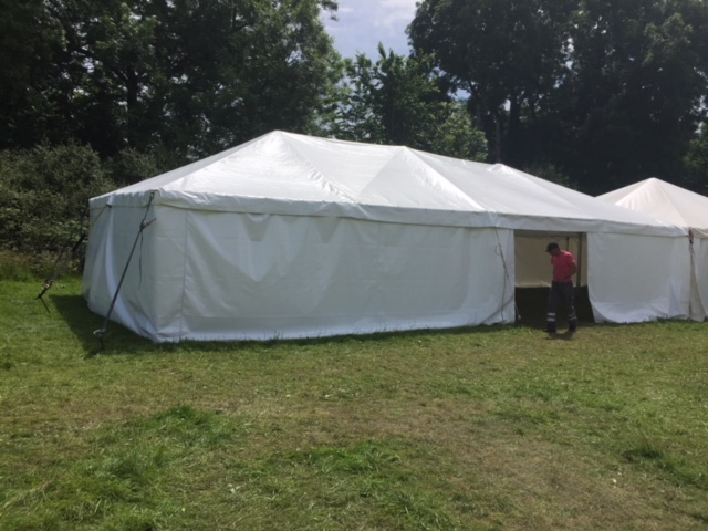 6m x 12m (20 x 40ft) Armbrusters Style Frame Marquee Bristol