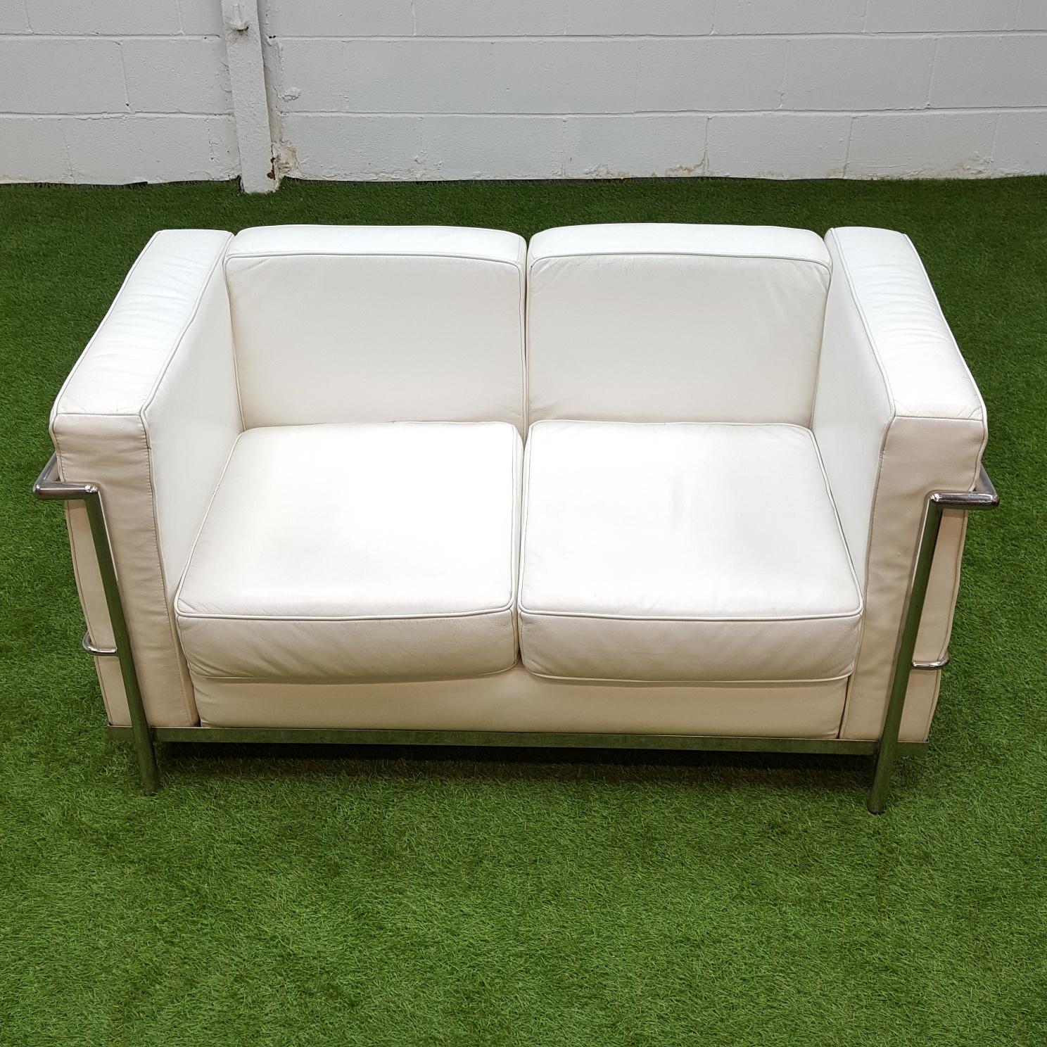 Remarkable 5X White Le Corbusier Style 2 Seater Sofa Chester Machost Co Dining Chair Design Ideas Machostcouk