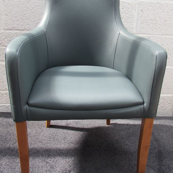Secondhand Chairs And Tables Office Furniture 6x Genuine Leather Grey Desk Chair With Arms Code Ch289 Sussex